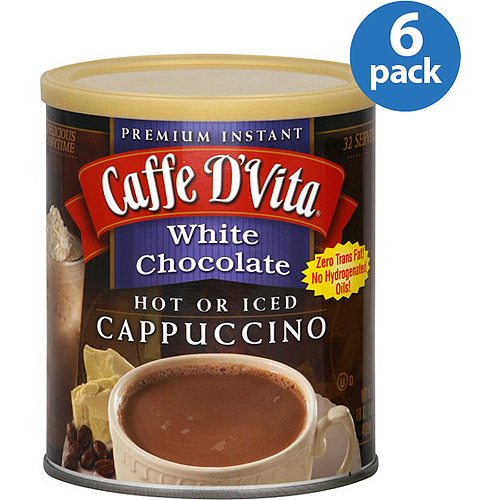 Caffe D'Vita White Chocolate Cappuccino Mix, 16 oz, (Pack of 6)