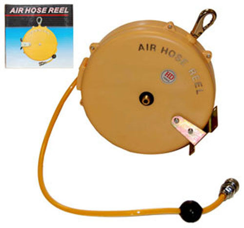 "25' RETRACTABLE-RETRACTING 1/4"" AIR HOSE REEL-Workshop Tools-Compressor Airbrush"