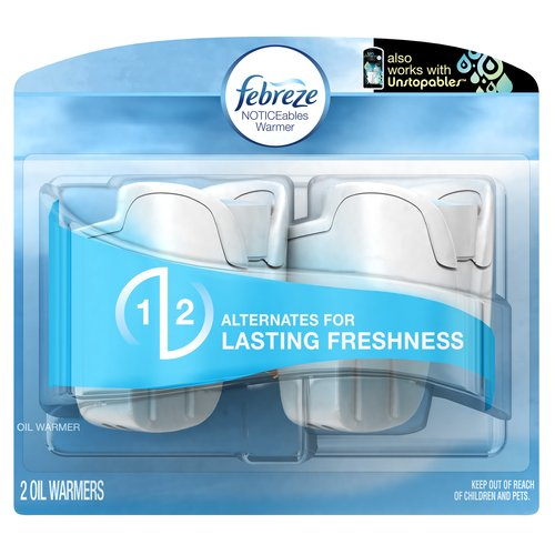 Febreze NOTICEables Dual Scented Oil Warmers, 2 count