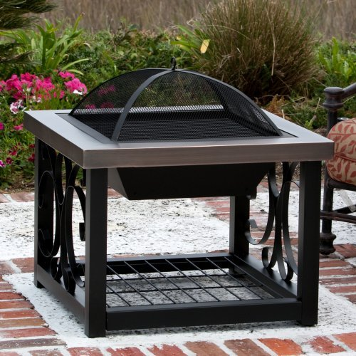 Fire Sense Old World Bronze Finish Cocktail Table Fire Pit