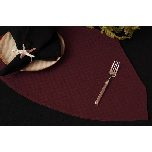 Pacific Table Linens Wicker Table Linens Reversible Wedge Placemat (Set of 2)