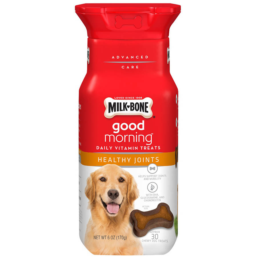 Milk-Bone Good Morning Daily Vitamin Dog Treats, Healthy Joints, 6 oz