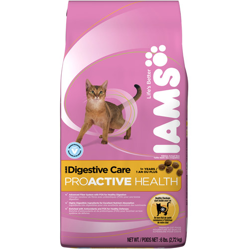 Iams ProActive Health Dry Cat Food, Digestive Care Formula 6lb Bag