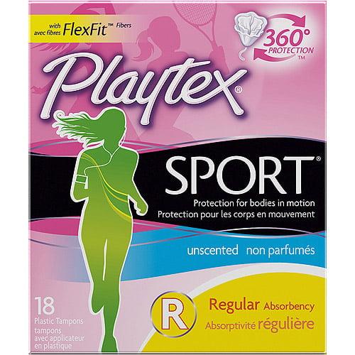 Playtex Regular Unscented Sport Tampons, 18ct