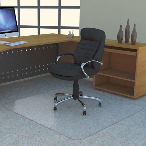 "Deflecto 36"" x 48"" DuraMat-Use Chair Mat for Low Pile Carpet, Glass Clear"