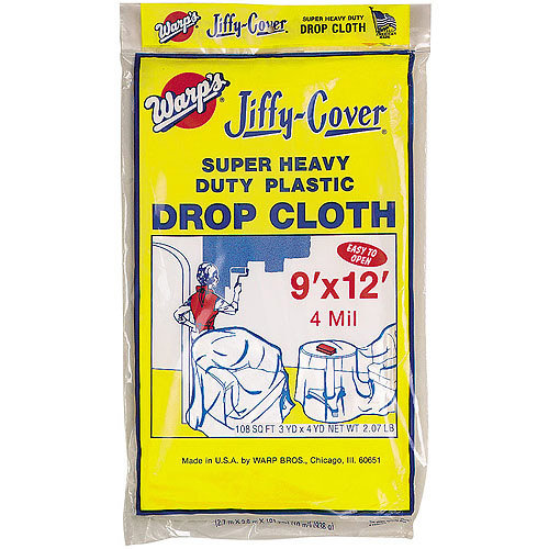 Warps 4JC-912 9' x 12' Jiffy Cover Super Heavy Duty Drop Cloth
