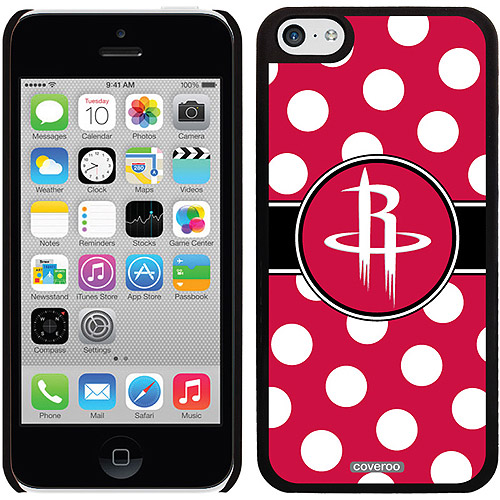 Houston Rockets Polka Dots Design on Apple iPhone 5c Thinshield Snap-On Case by Coveroo