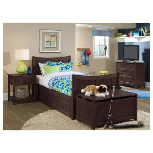 School House Chocolate Taylor Twin Bed