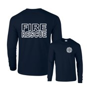 Fire Rescue Duty Firefighter F&B Long Sleeve T-Shirt