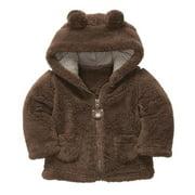 DZT1968 Carter Style Baby Boy Girl Hoodies Coat Thick Tops Children Outerwear
