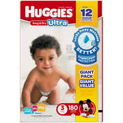 HUGGIES Snug & Dry Ultra Diapers, Giant Pack (Choose Your Size)