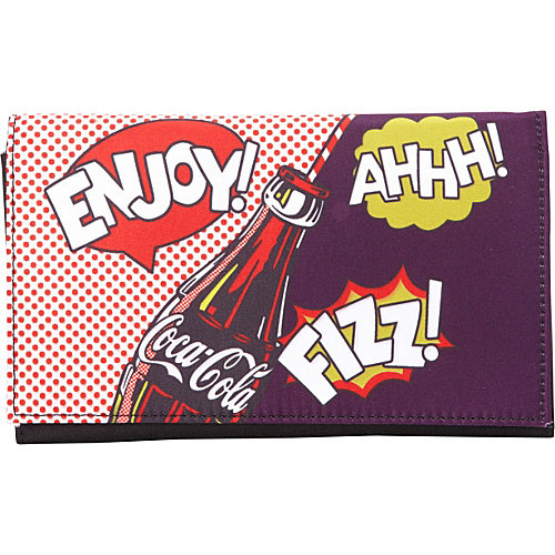 Ashley M Officially Licensed Coca-Cola Pop Art Tri-Fold Wallet