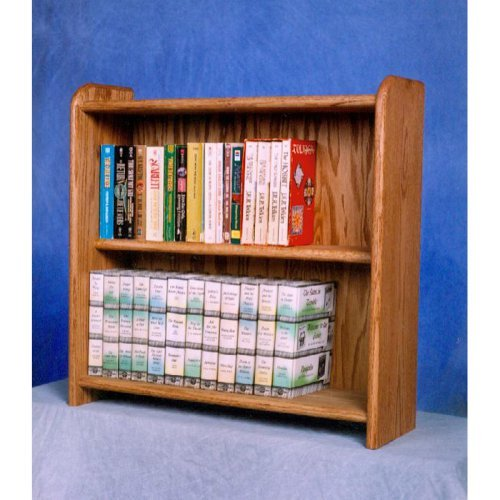 The Wood Shed Solid Oak 2 Row Media Cabinet \/ Bookcase