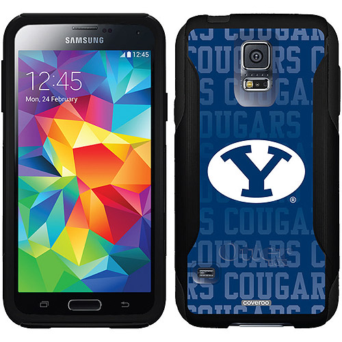 Brigham Young Repeating Design on OtterBox Commuter Series Case for Samsung Galaxy S5