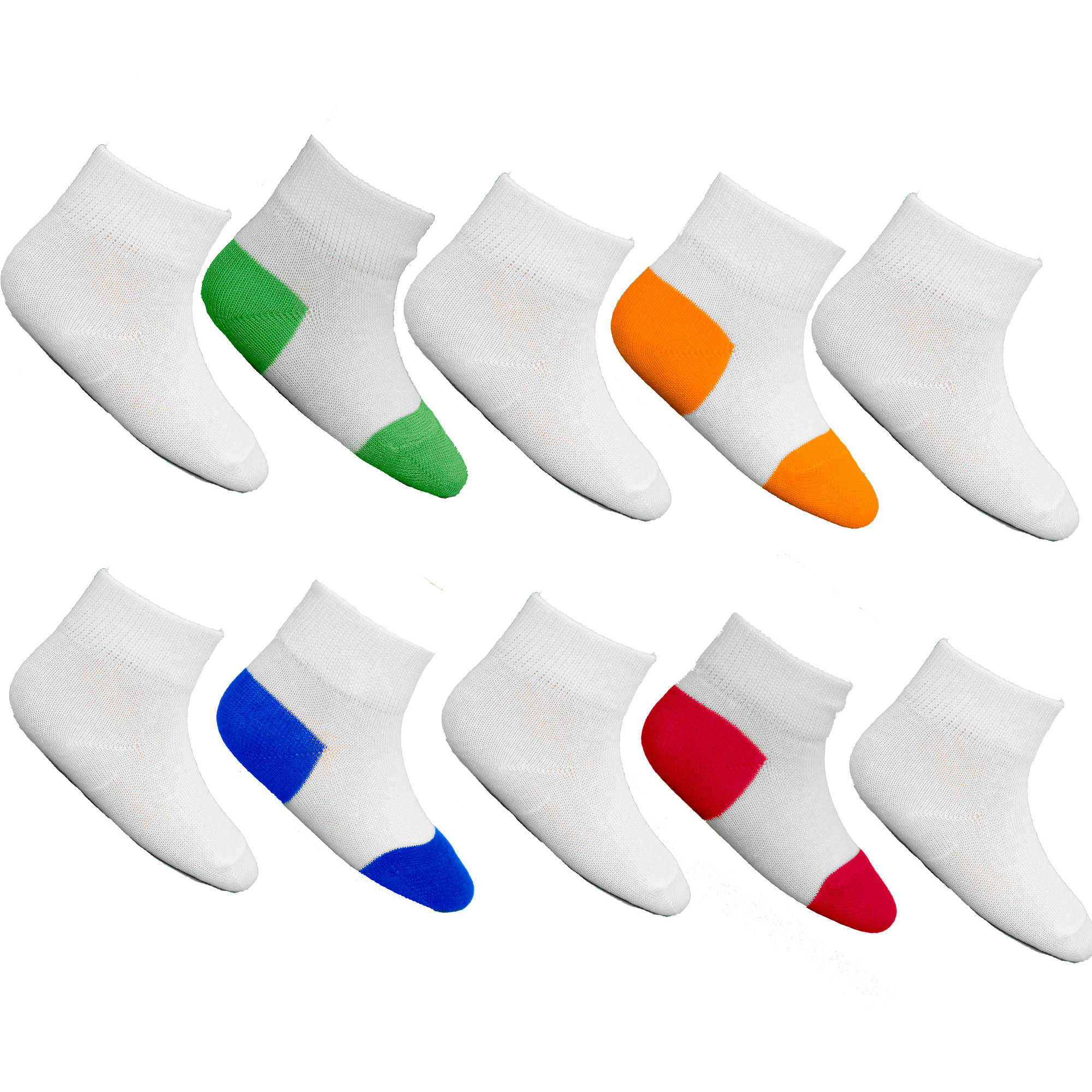 Fruit of the Loom Baby Boys' Tuff n' Comfy Ankle Socks 10-Pack