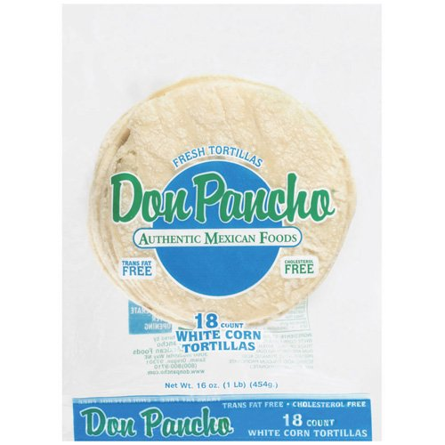 Don Pancho White Corn Tortillas, 18ct