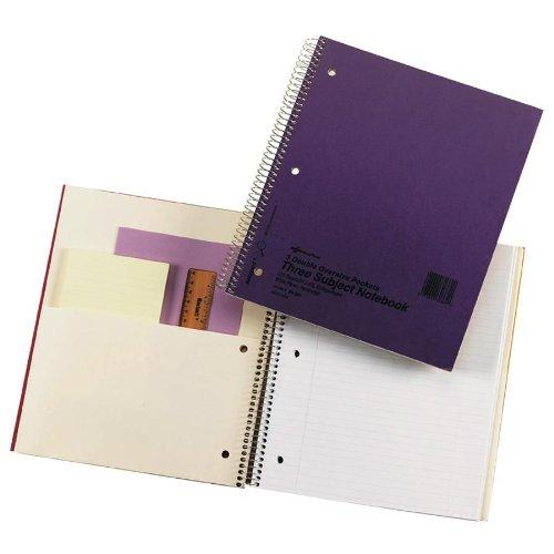 "Rediform National Pressguard 3-subject Notebook - 120 Sheet - 16 Lb - College Ruled - 8.88"" X 11"" - 1 Each - White Paper (RED31384)"
