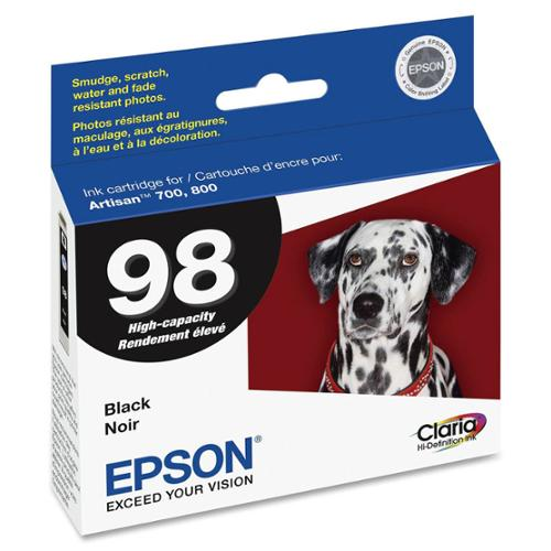Epson Ink, Black, Claria Ink, High Capacit - T098120