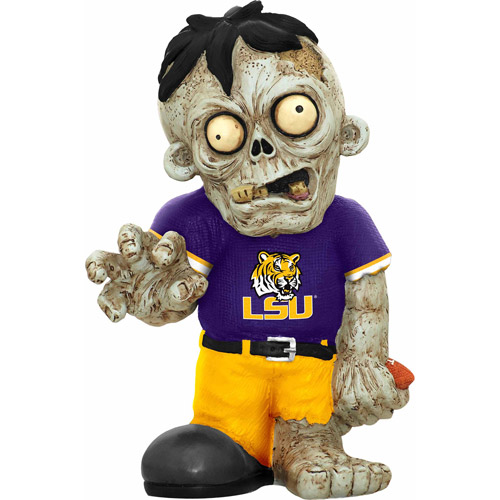 Forever Collectibles NCAA Resin Zombie Figurine, Louisiana State University Tigers