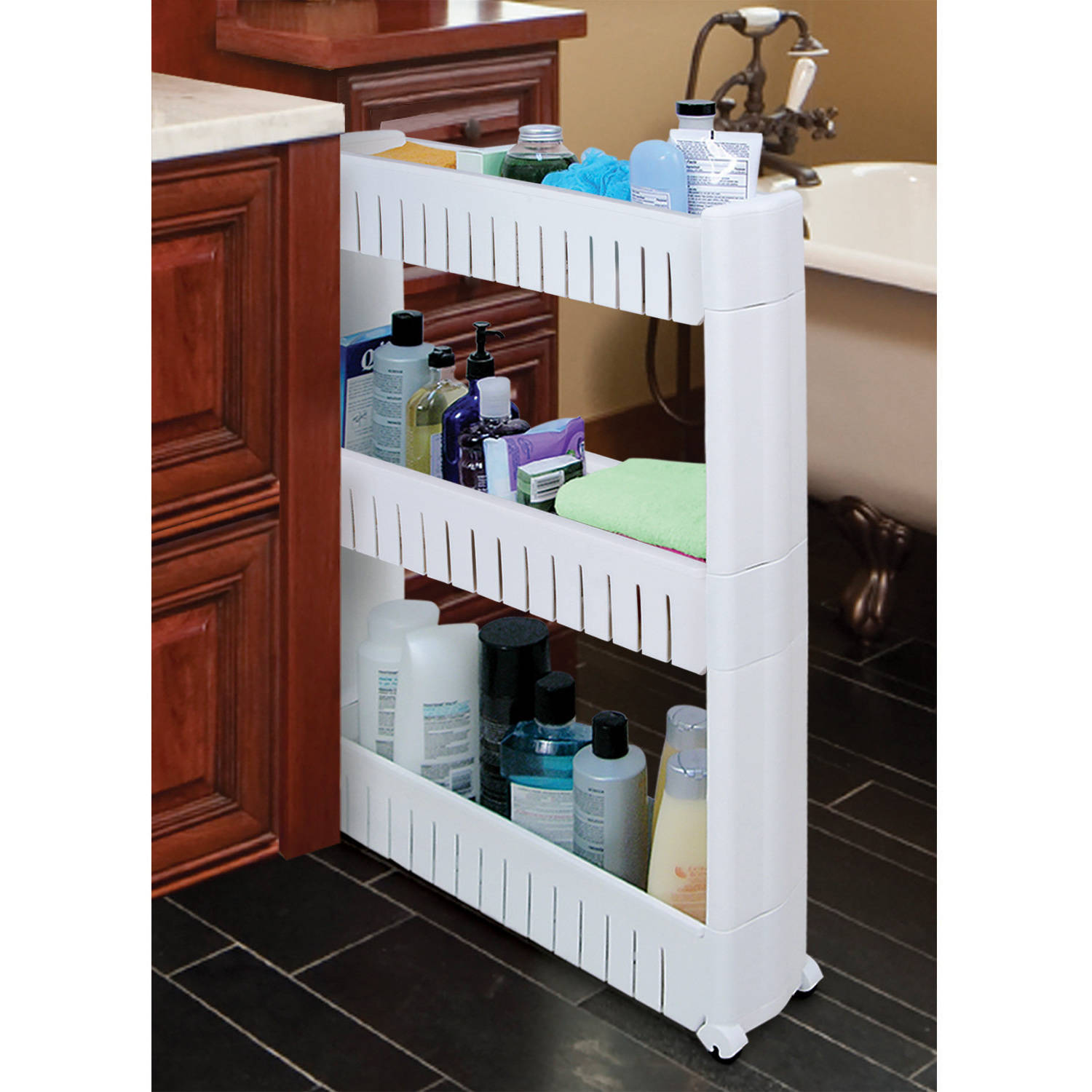 Ideaworks Slide-Out Storage Tower, White, JB6032