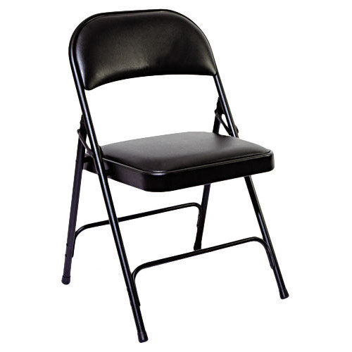 Alera Steel Folding Chair with Padded Back and Seat (Set of 4)