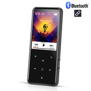 AGPTEK 16GB MP3 Player Bluetooth 4.0 with 2.4 Inch TFT Color Screen, FM Voice Recorder Lossless Sound Music Player,Black