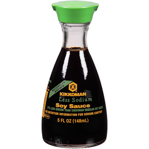 Kikkoman Less Sodium Soy Sauce, 5 fl oz, (Pack of 6)