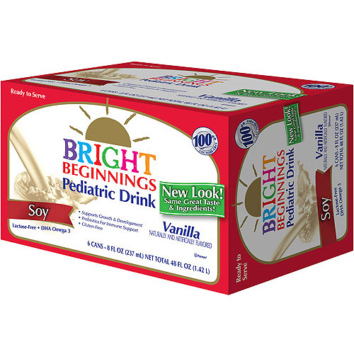 Bright Beginnings Vanilla Soy Pediatric Drink, 8 fl oz, 6 count