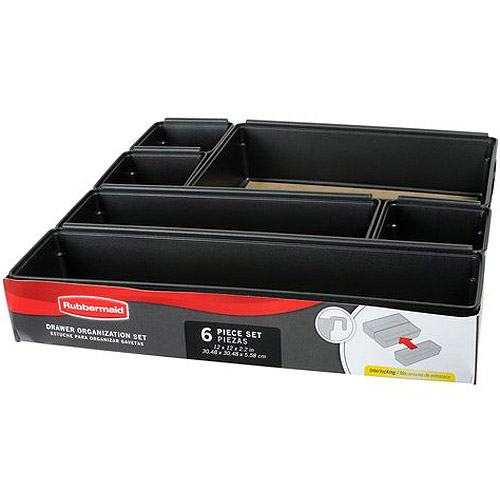 Rubbermaid 6pc Drawer Organizer Set