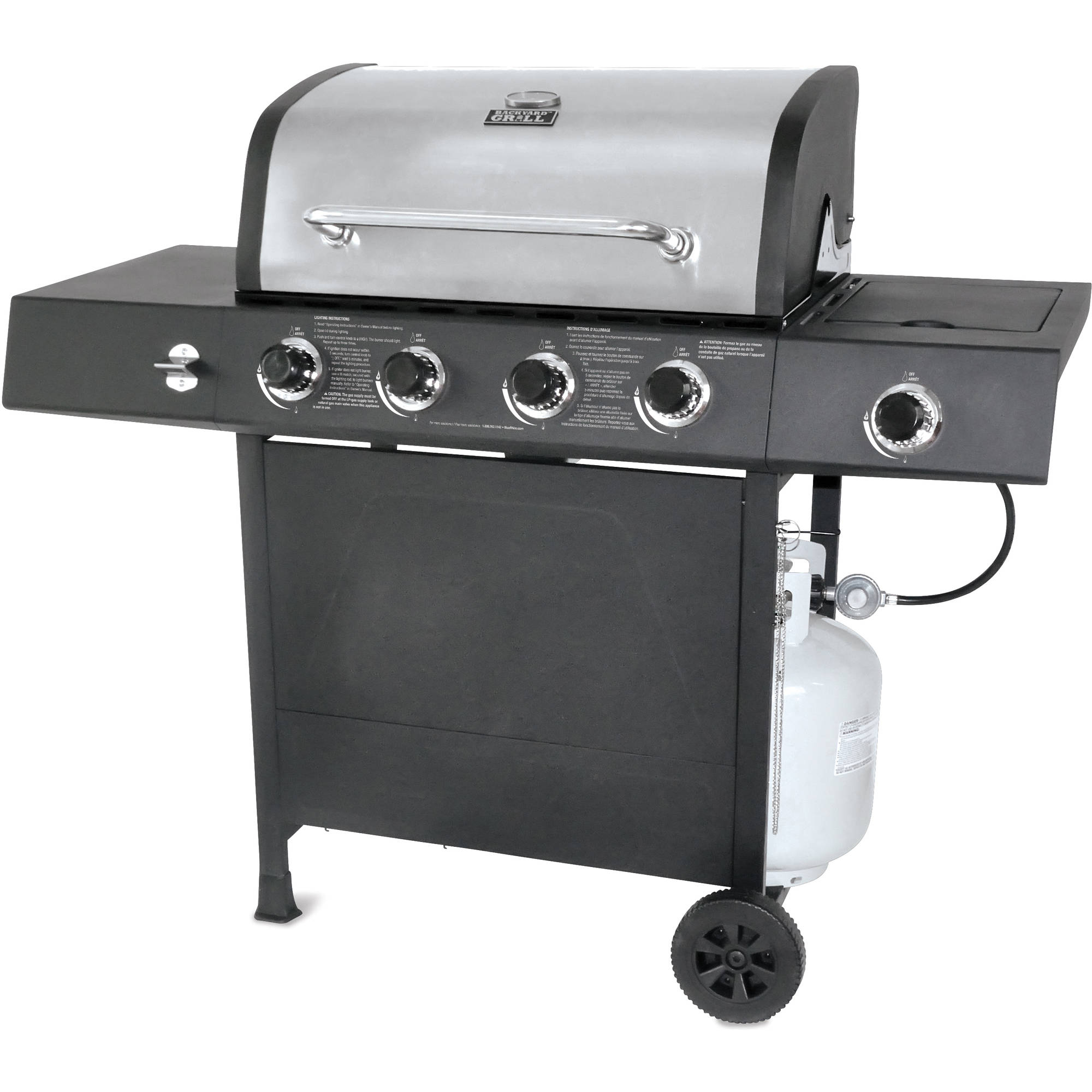 Backyard Grill 4-Burner Gas Grill with Side Burner