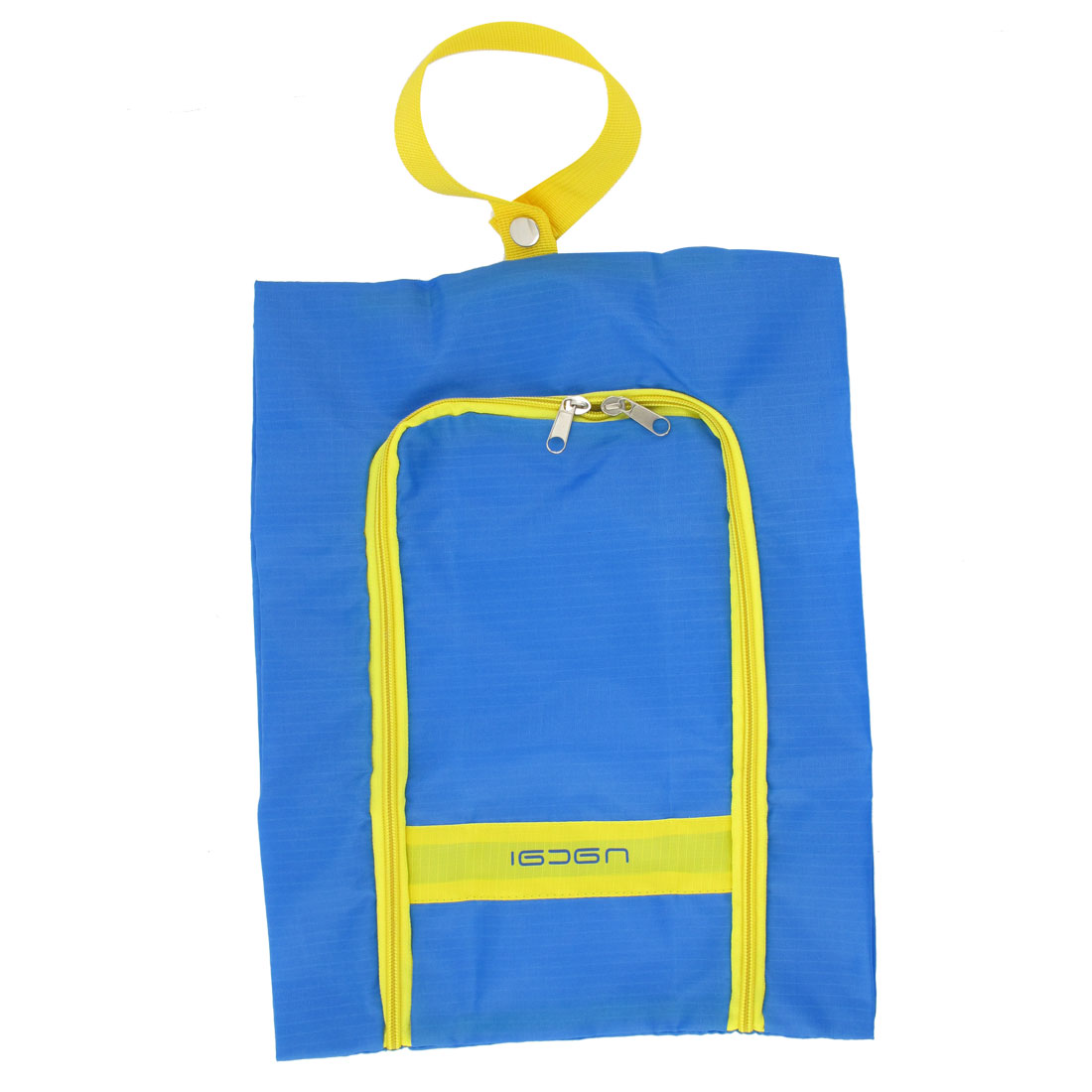 Traveling Blue Yellow Zipper Closure Sundry Clothes Shoes Storage Bag