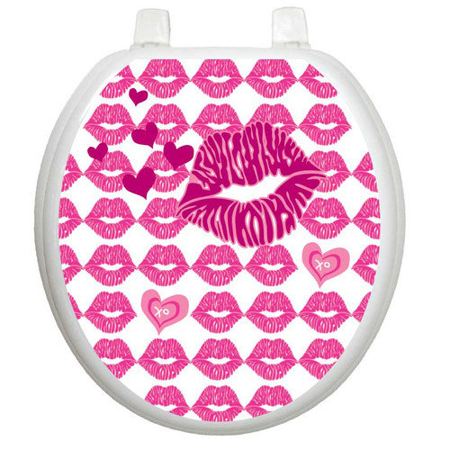 Toilet Tattoos Whimiscal Hot Lips Toilet Seat Decal