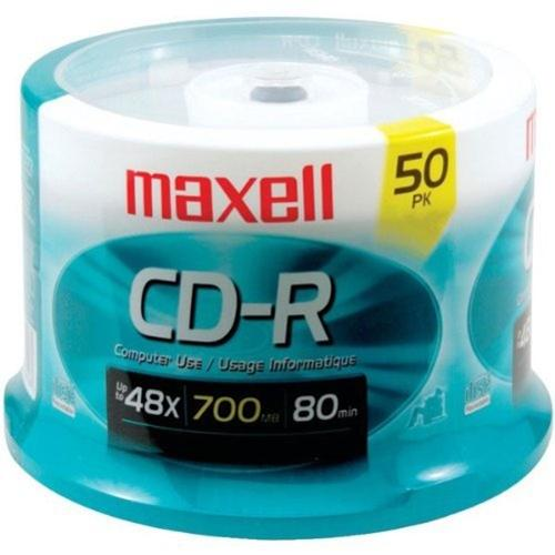 MAXELL 50 Disc CD-R Cakebox - CDR700-50Y