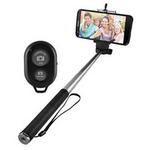 Refurbished Ematic Extendable Selfie Stick - Carrier Packaging - Black\/Silver