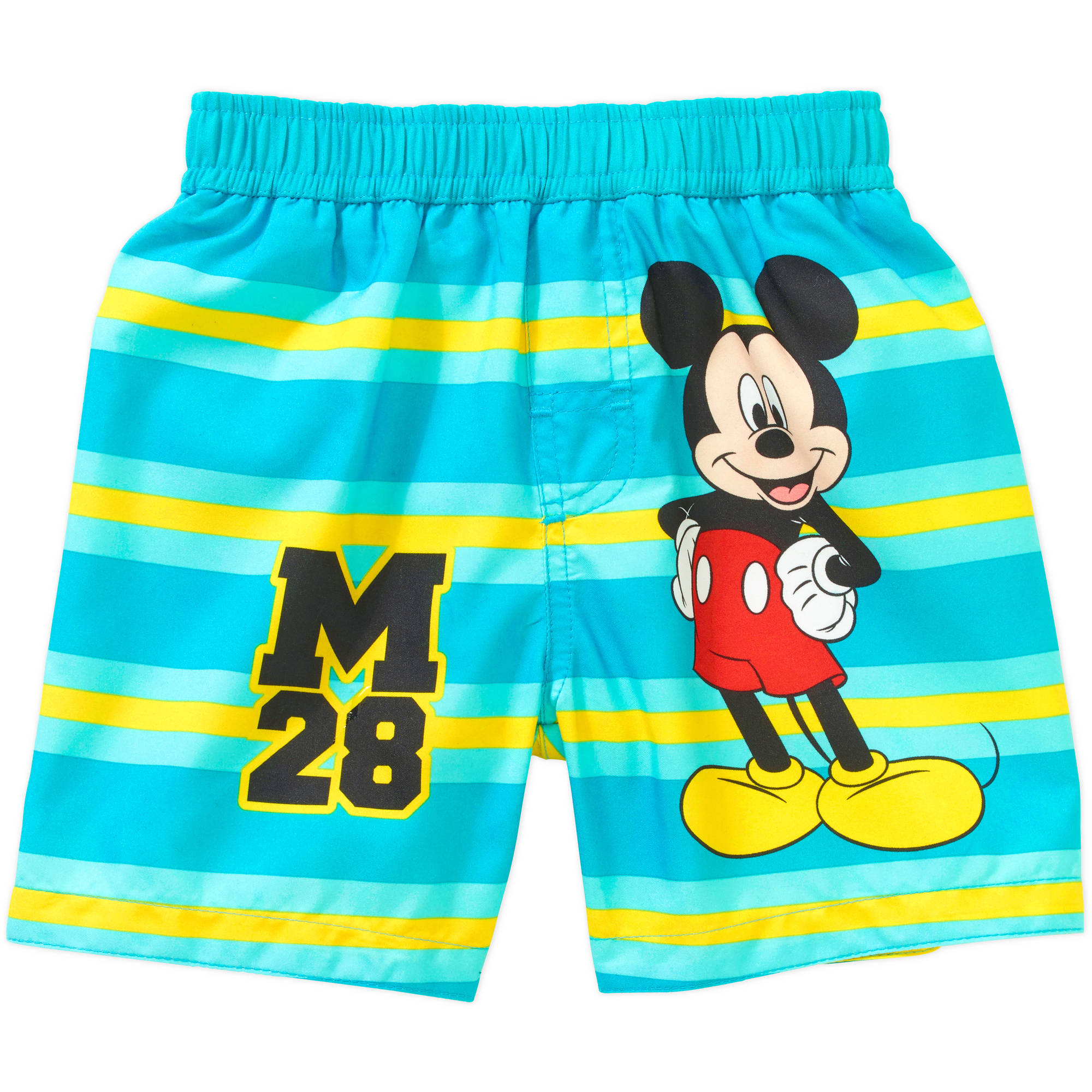 Mickey Mouse Newborn Baby Boy Striped Swim Trunks