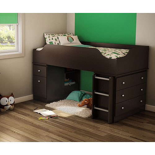 South Shore Treehouse Twin Loft Bed, Chocolate