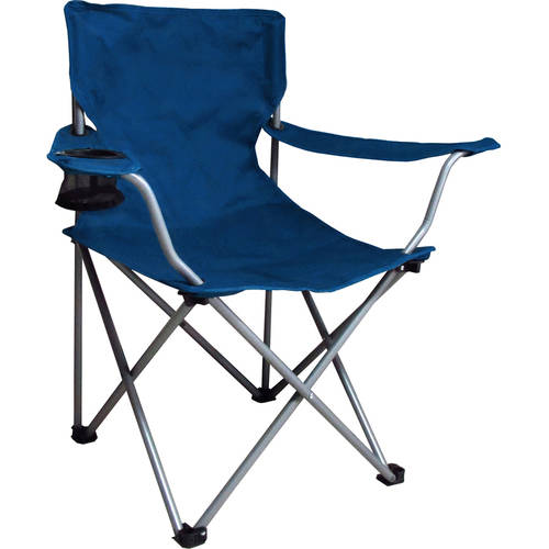 Ozark Trail Folding Chair with Built-In Cup Holder, Blue