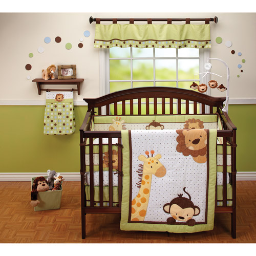 Little Bedding by NoJo Jungle Pals 3pc Crib Bedding Set