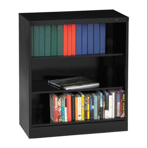 Assembled Bookcase, Black ,Tennsco, BC18-42 BLACK