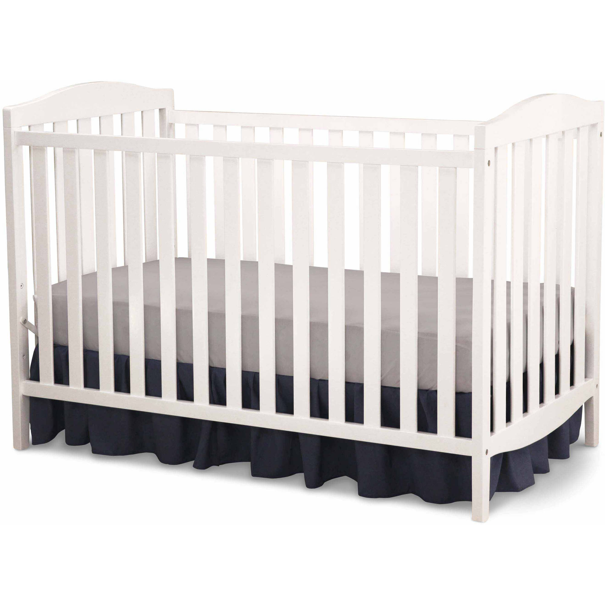 Delta Children Capri 3-in-1 Fixed-Side Crib, (Choose Your Finish)