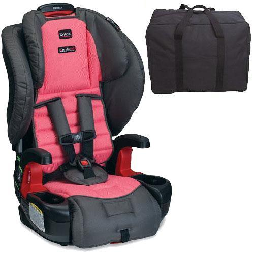 Britax - Pioneer G1 1 Harness-2-Booster Car Seat with Travel Bag - Coral