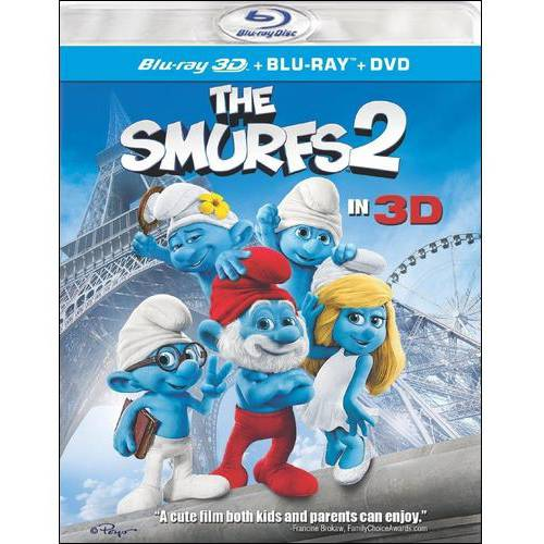The Smurfs 2 (3D Blu-ray + Blu-ray + DVD + Digital Copy) (With INSTAWATCH) (Widescreen)