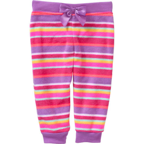 Garanimals Newborn Baby Girl Printed Micro Fleece Pants