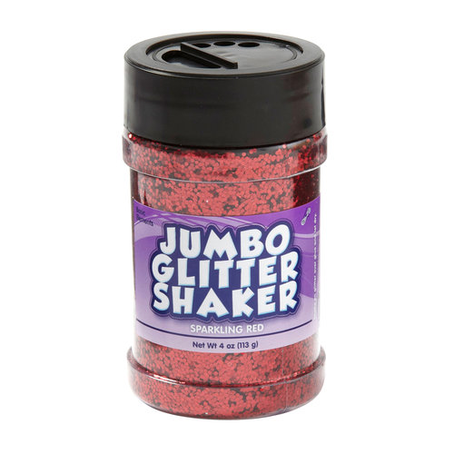 Kids Craft 4 oz Glitter Shaker, Red