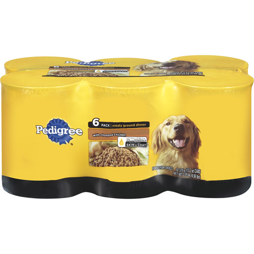 Pedigree With Chopped Chicken Meaty Ground Dinner, 6ct