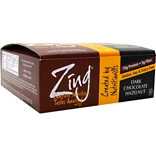 Zing Nutrition Bar, Dark Chocolate Hazelnut, 1.76 Ounce, 12 Count