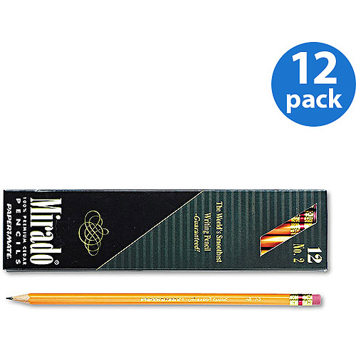 Paper Mate Mirado Woodcase Pencil, HB #2, Yellow Barrel, Dozen