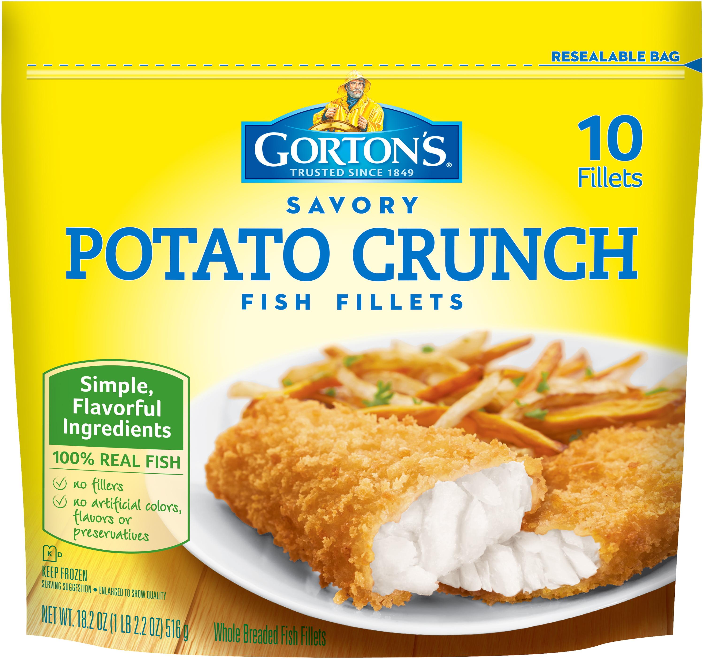 Gorton's® Savory Potato Crunch Fish Fillets 10 ct Stand-Up Bag