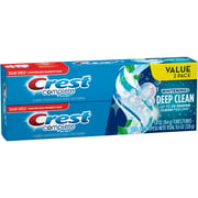 Crest Complete Whitening + Deep Clean Effervescent Mint Toothpaste, 5.8 oz, (Pack of 2)