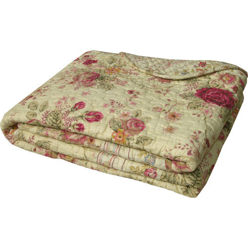 Greenland Home Fashions Antique Rose Cotton Throw